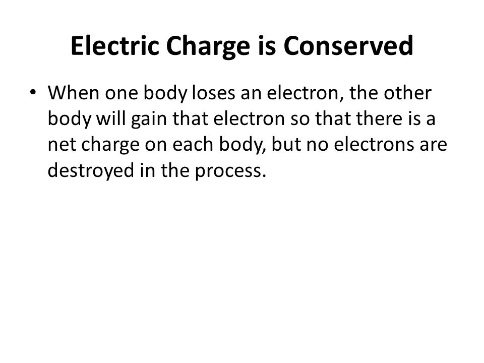 Electric Charge is Conserved