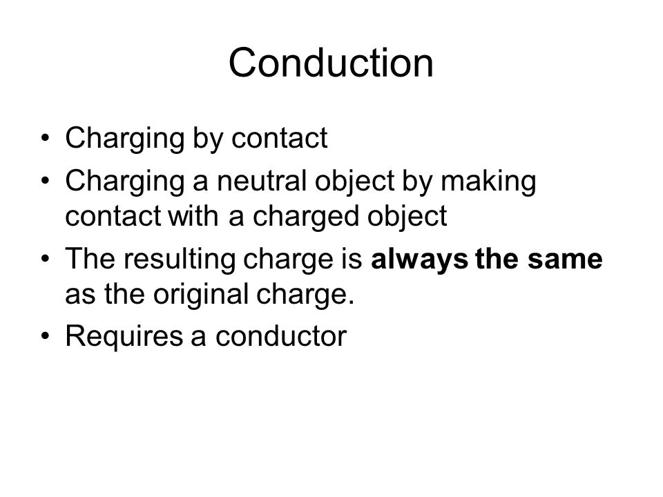 Conduction Charging by contact