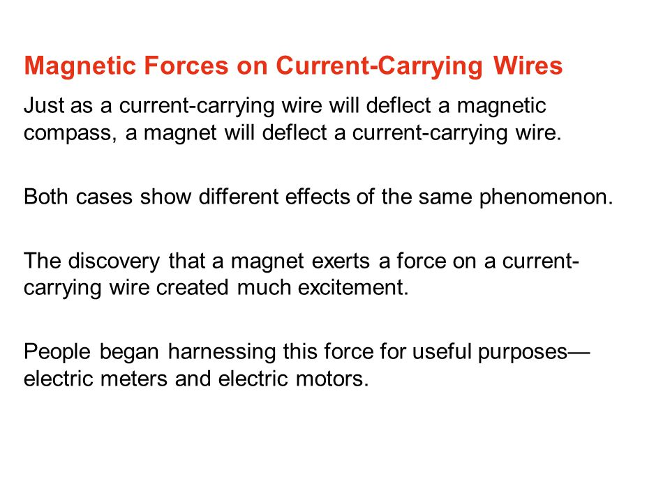 Magnetic Forces on Current-Carrying Wires