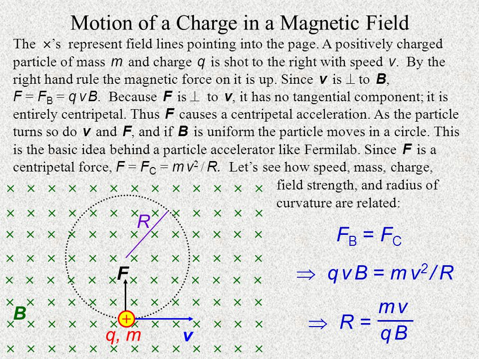 Motion of a Charge in a Magnetic Field