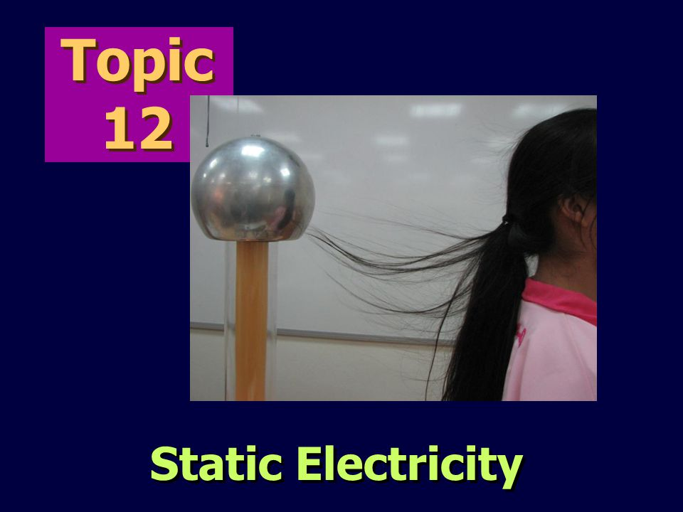 Topic 12 Static Electricity 2012 Sec 4 12 Static electricity AJL