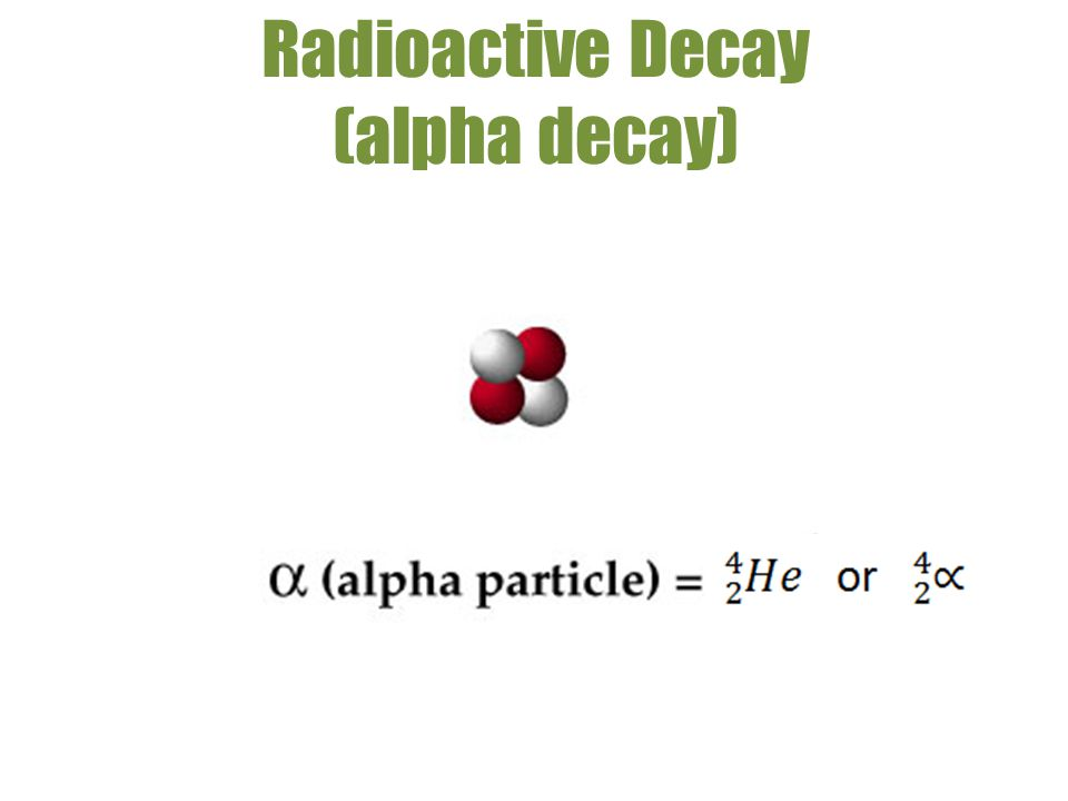 Radioactive Decay (alpha decay)