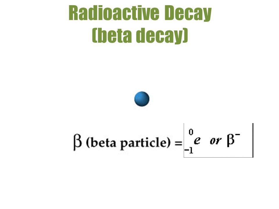 Radioactive Decay (beta decay)