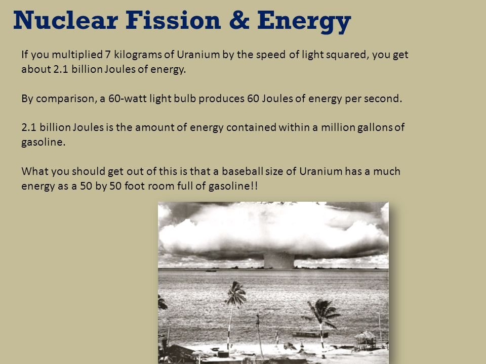 Nuclear Fission & Energy