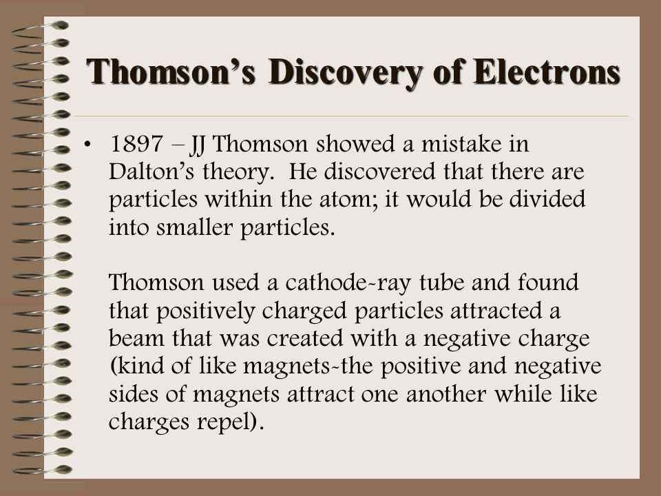 Thomson's Discovery of Electrons
