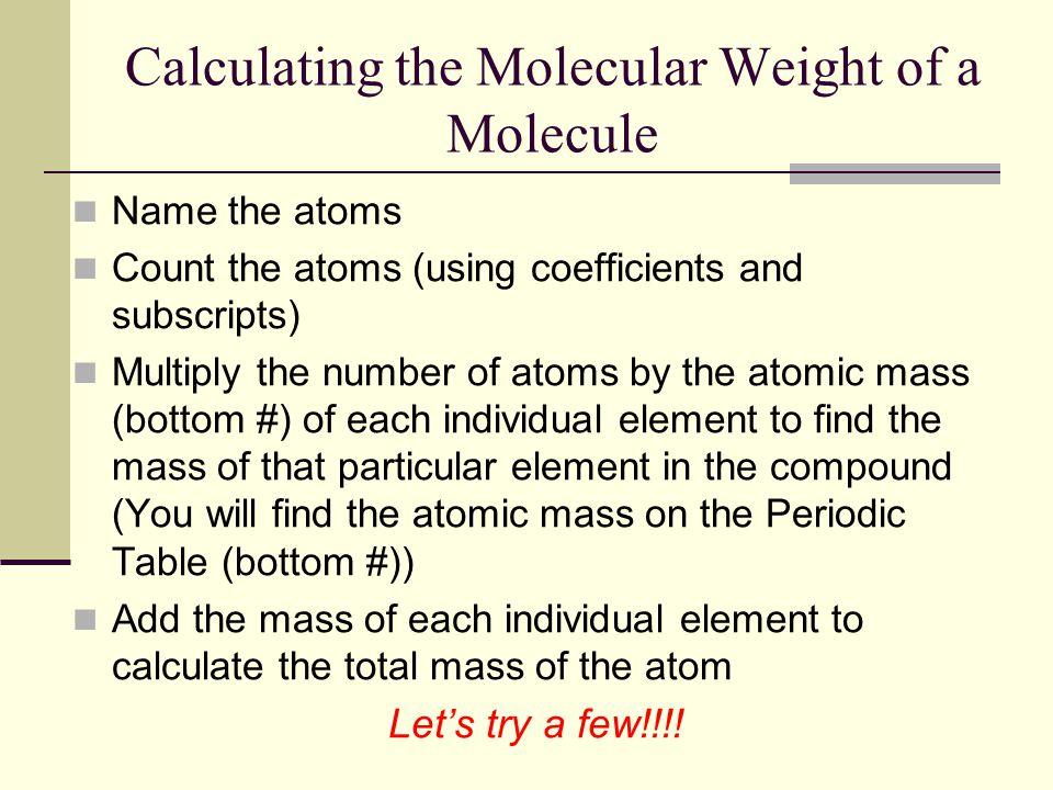 Calculating the Molecular Weight of a Molecule