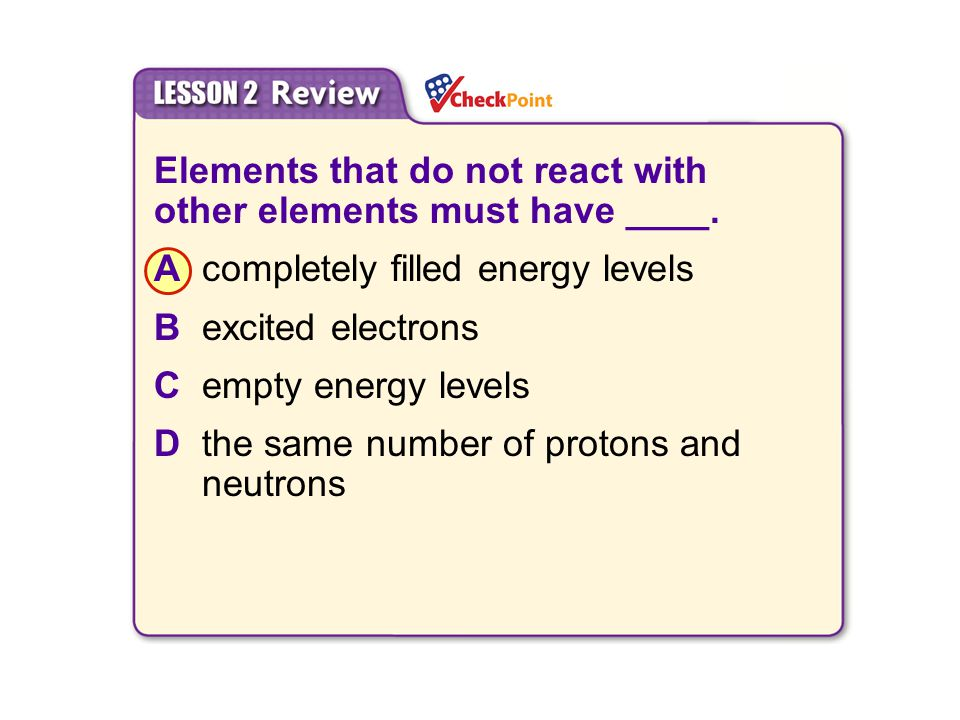 Elements that do not react with other elements must have ____.