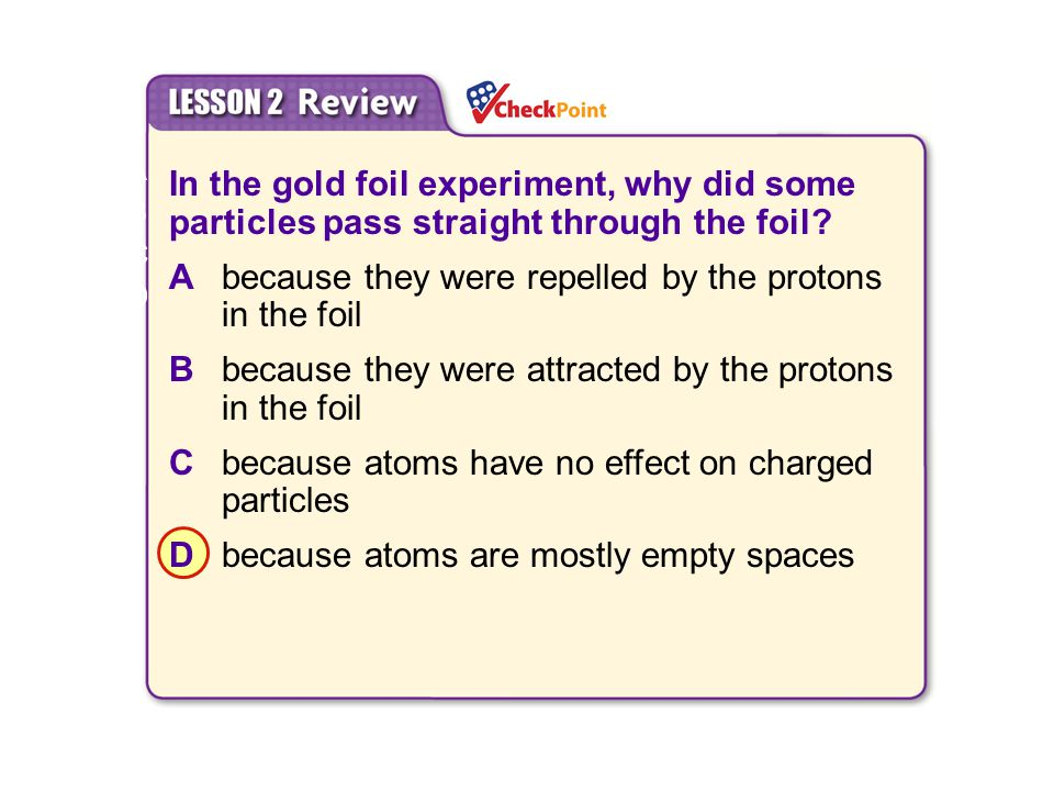 A because they were repelled by the protons in the foil