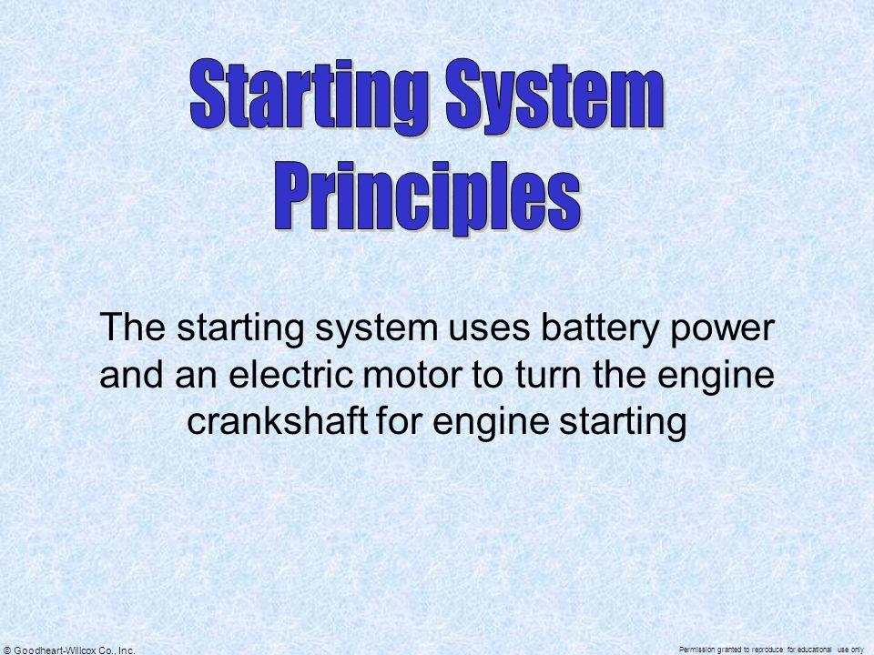 Starting System Principles