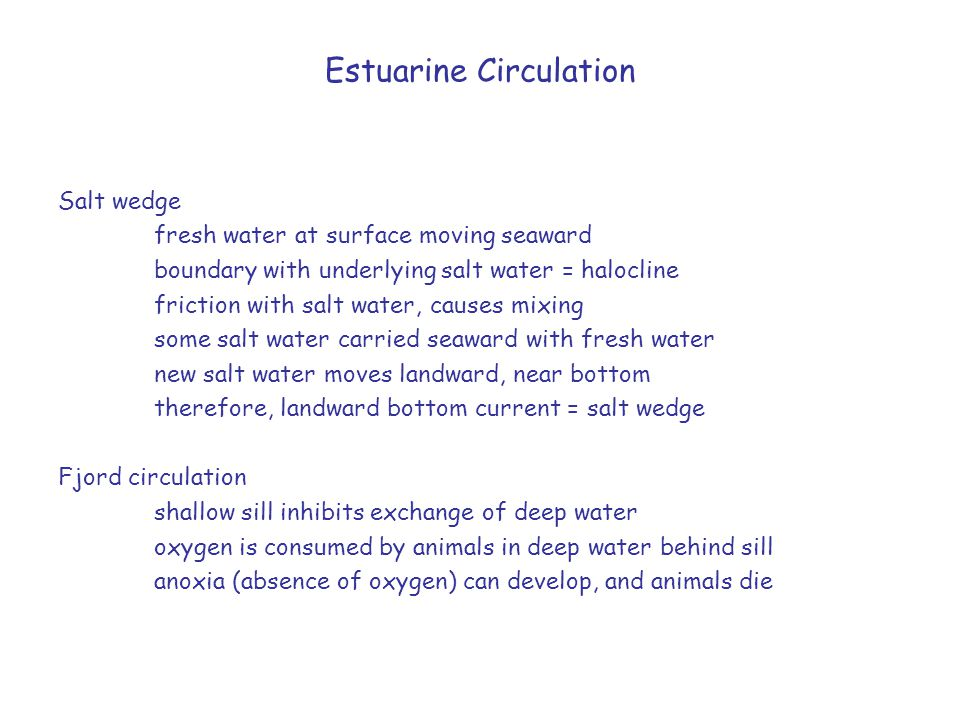 Estuarine Circulation