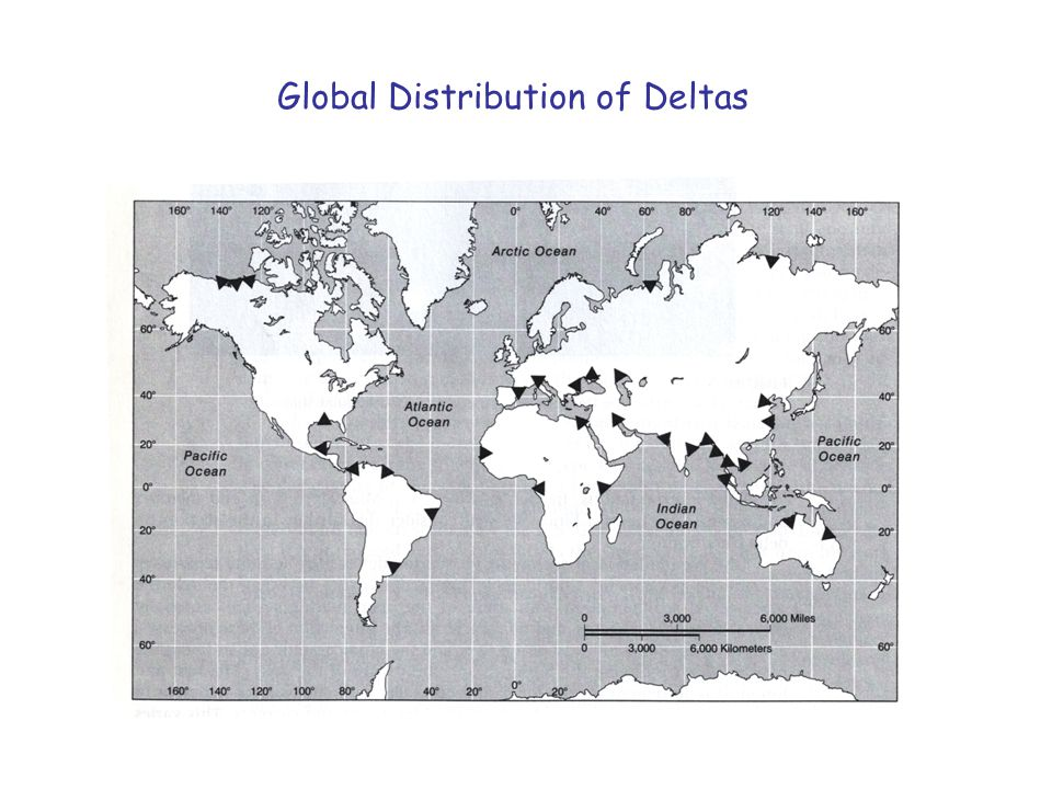 Global Distribution of Deltas