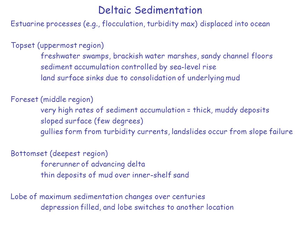 Deltaic Sedimentation