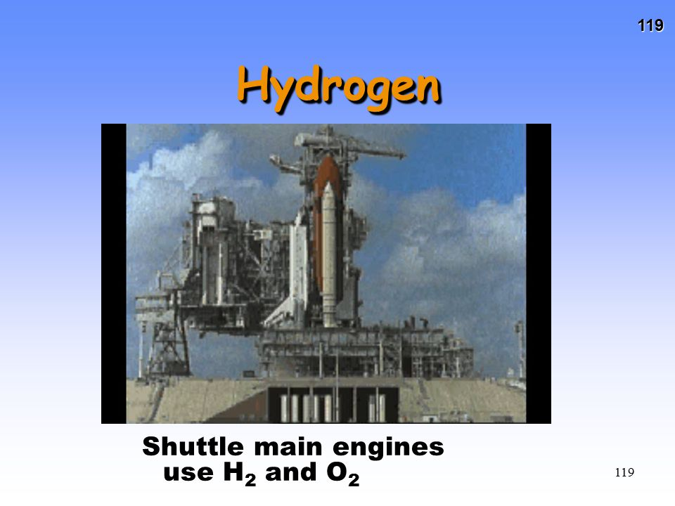 Hydrogen Shuttle main engines use H2 and O2