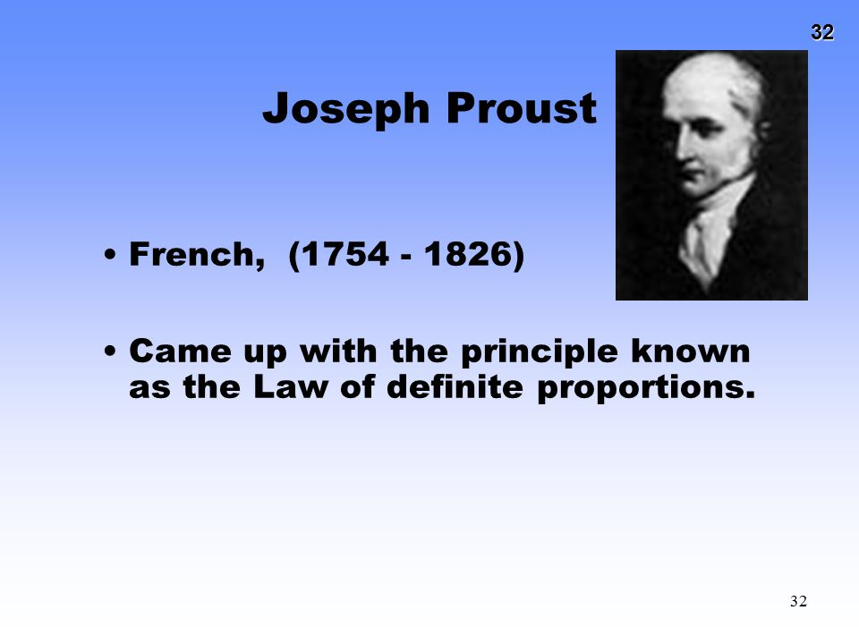 Joseph Proust French, (1754 - 1826)