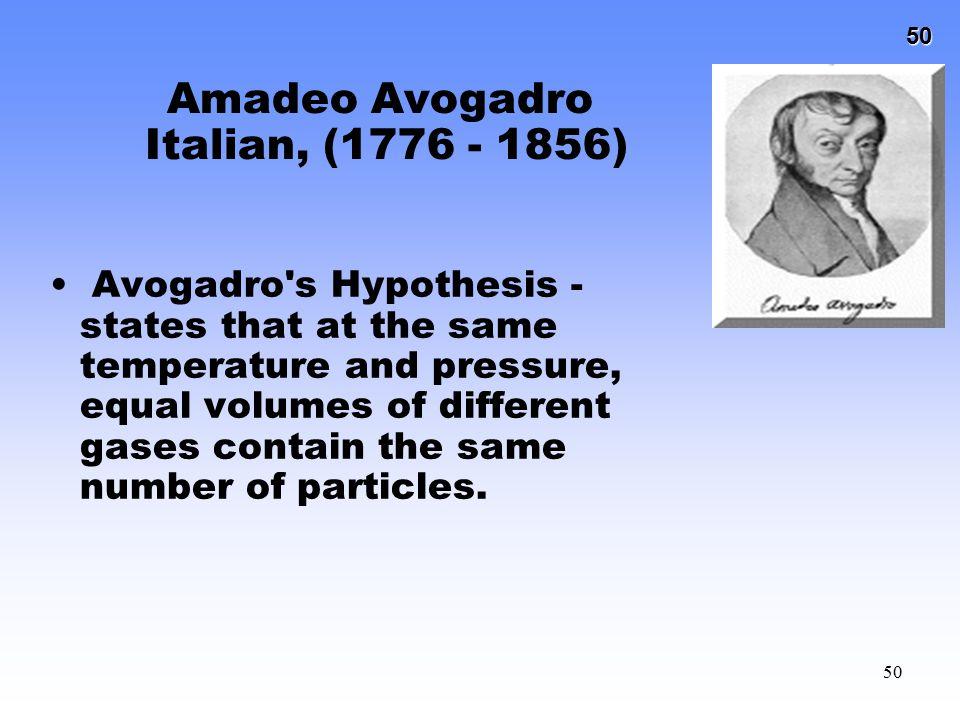 Amadeo Avogadro Italian, (1776 - 1856)