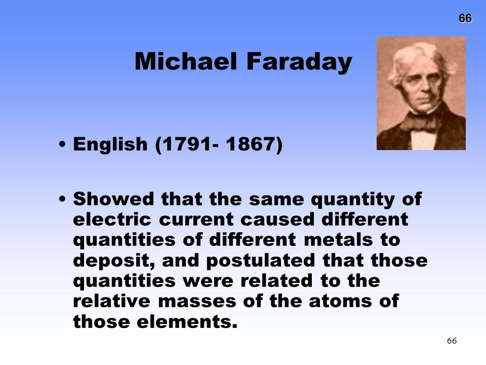 Michael Faraday English (1791- 1867)