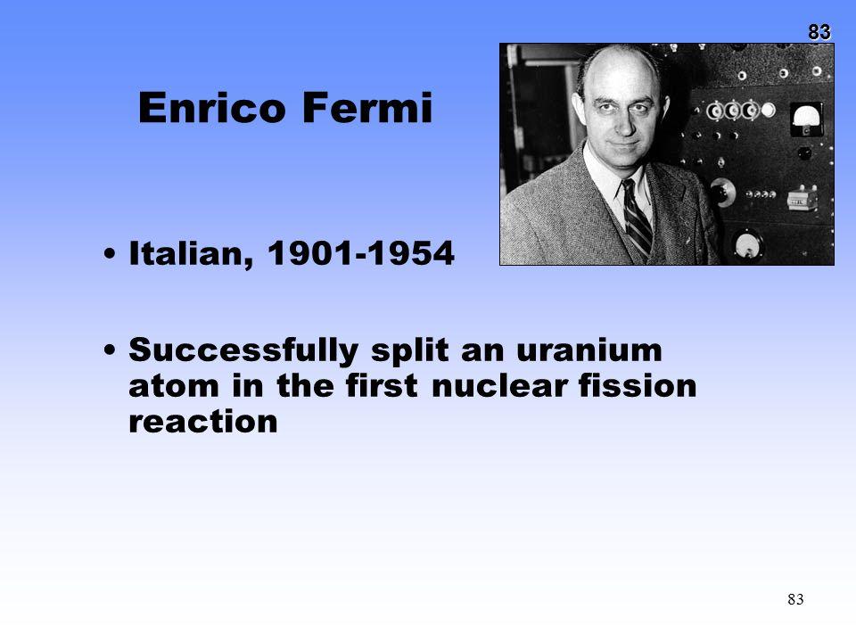 Enrico Fermi Italian, 1901-1954.