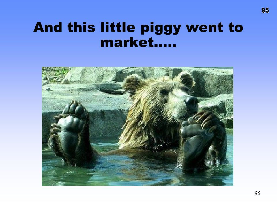 And this little piggy went to market…..