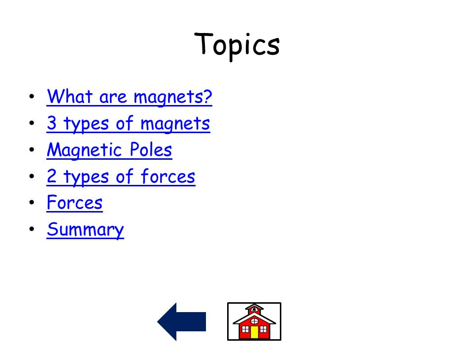 Topics What are magnets 3 types of magnets Magnetic Poles