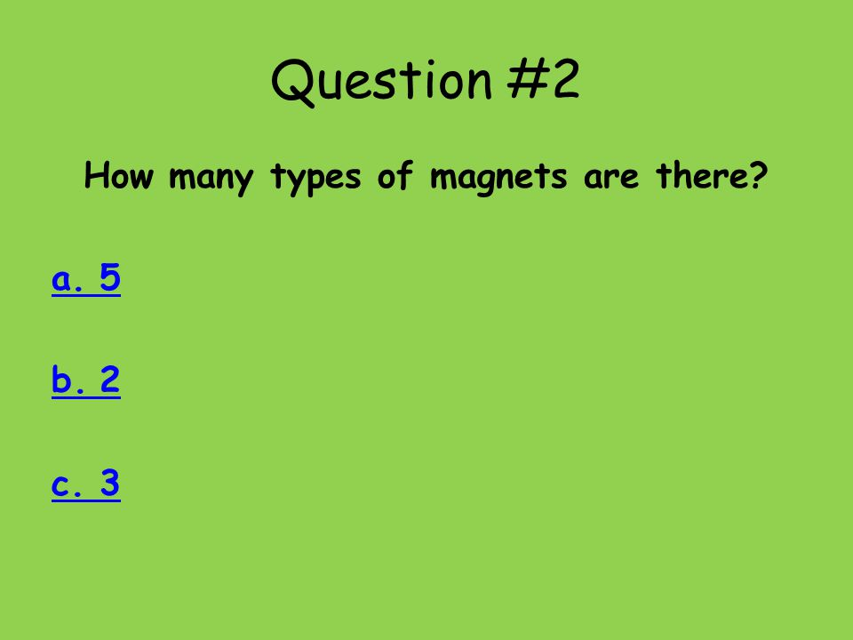 How many types of magnets are there