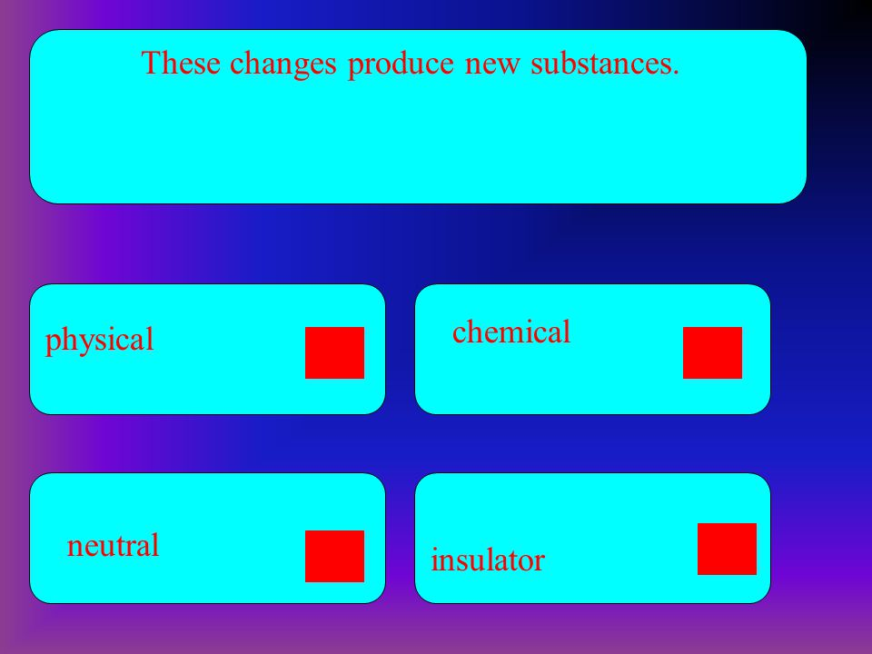 These changes produce new substances.