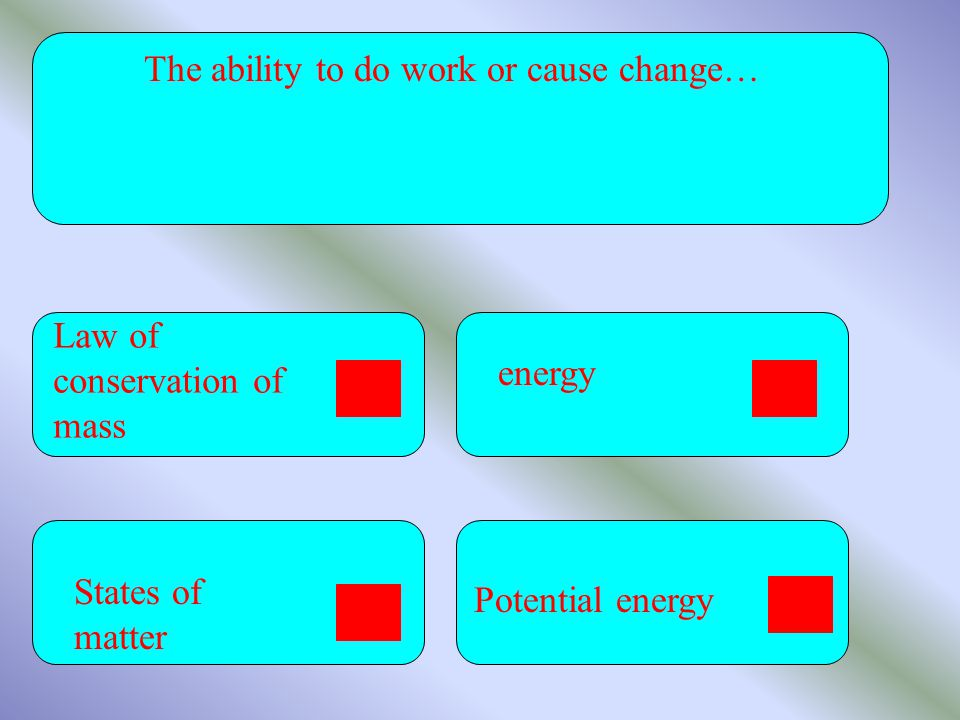 The ability to do work or cause change…