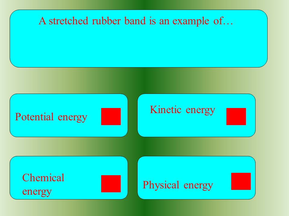 A stretched rubber band is an example of…