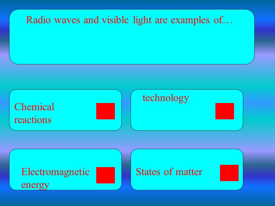 Radio waves and visible light are examples of…