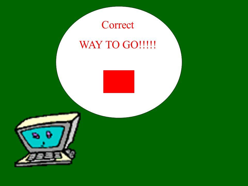 Correct WAY TO GO!!!!!
