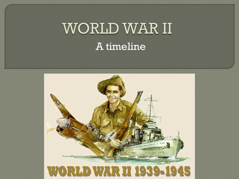 WORLD WAR II A timeline