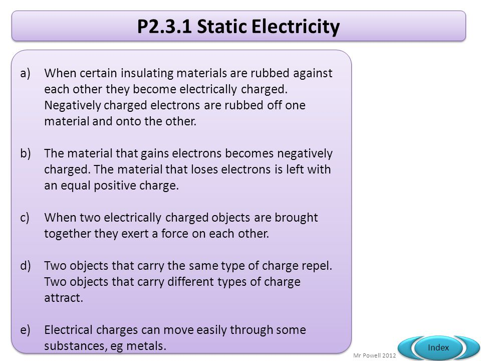 P2.3.1 Static Electricity
