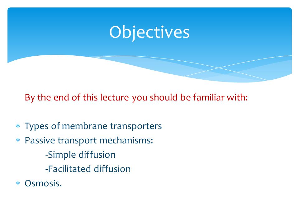 Objectives By the end of this lecture you should be familiar with: