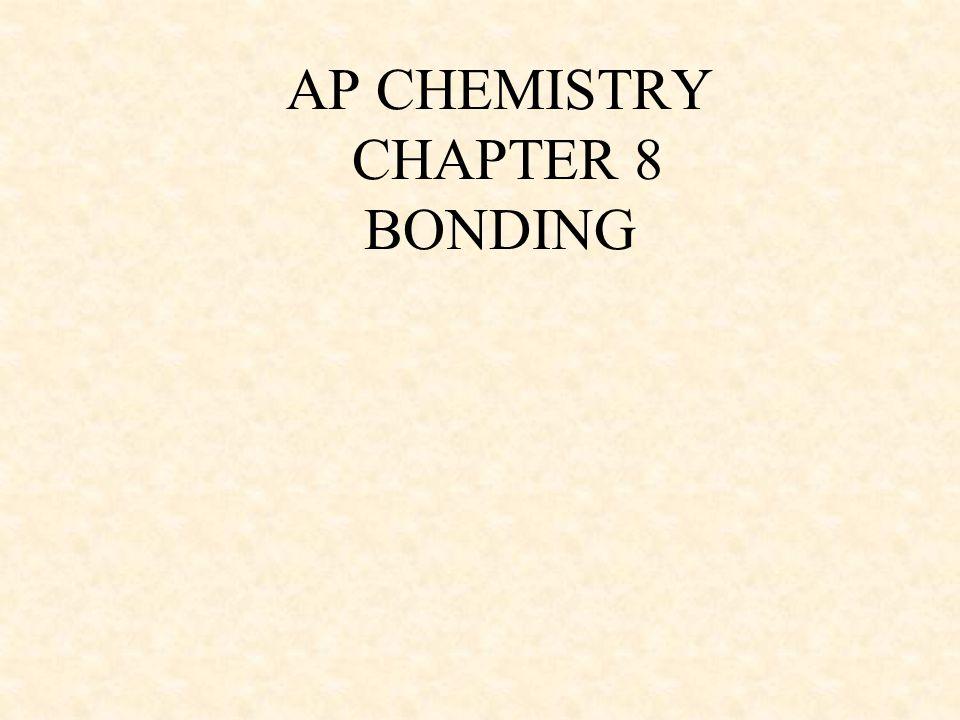 AP CHEMISTRY CHAPTER 8 BONDING