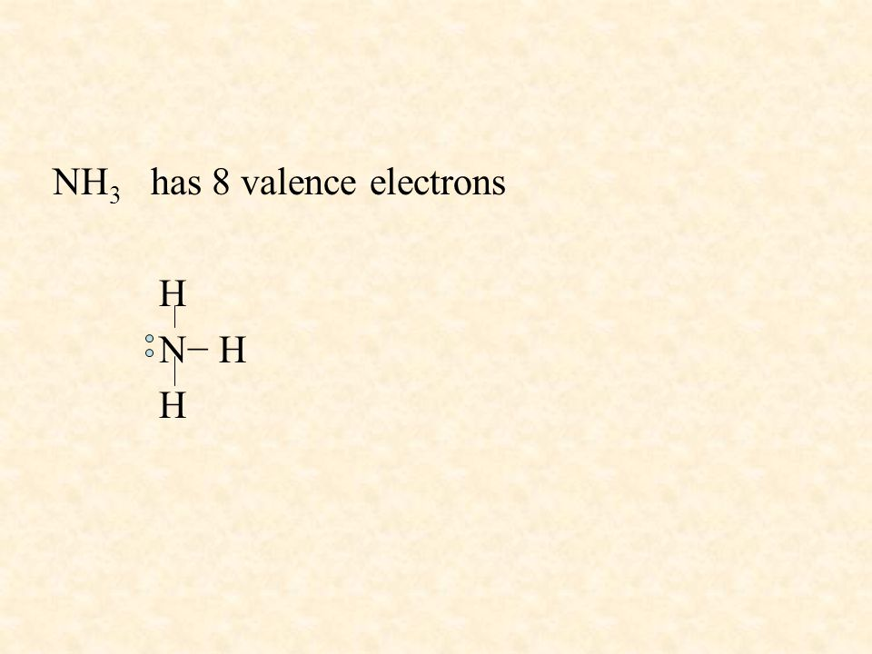 NH3 has 8 valence electrons