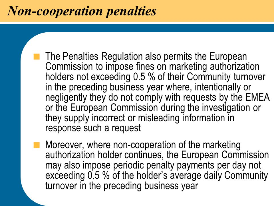 Non-cooperation penalties