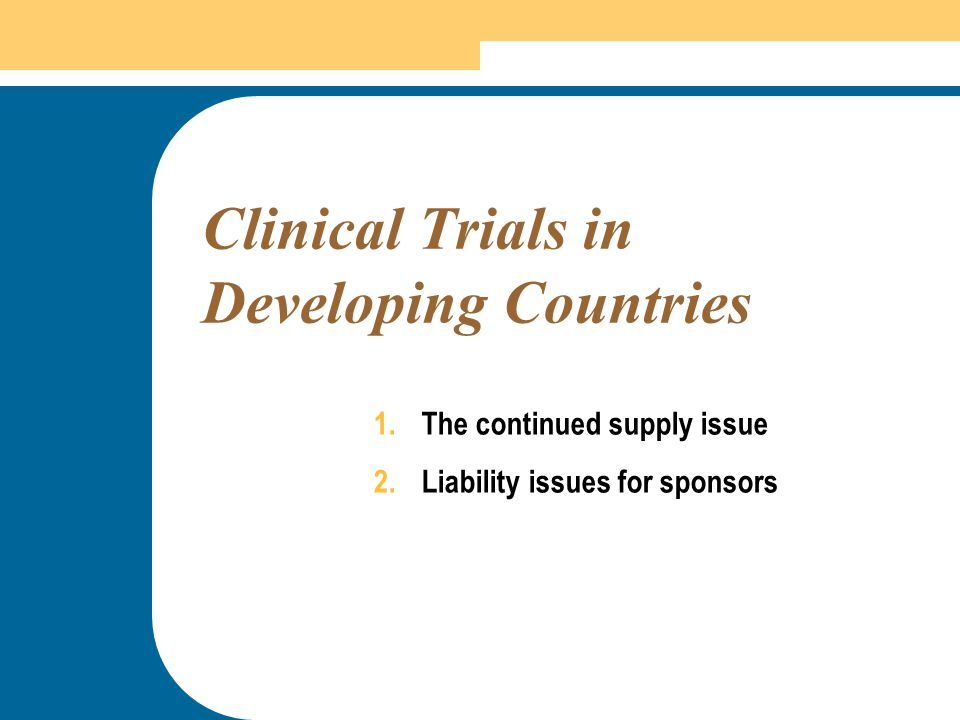 Clinical Trials in Developing Countries