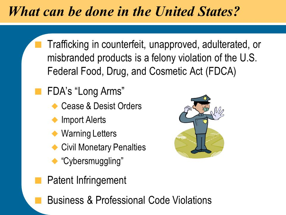 What can be done in the United States