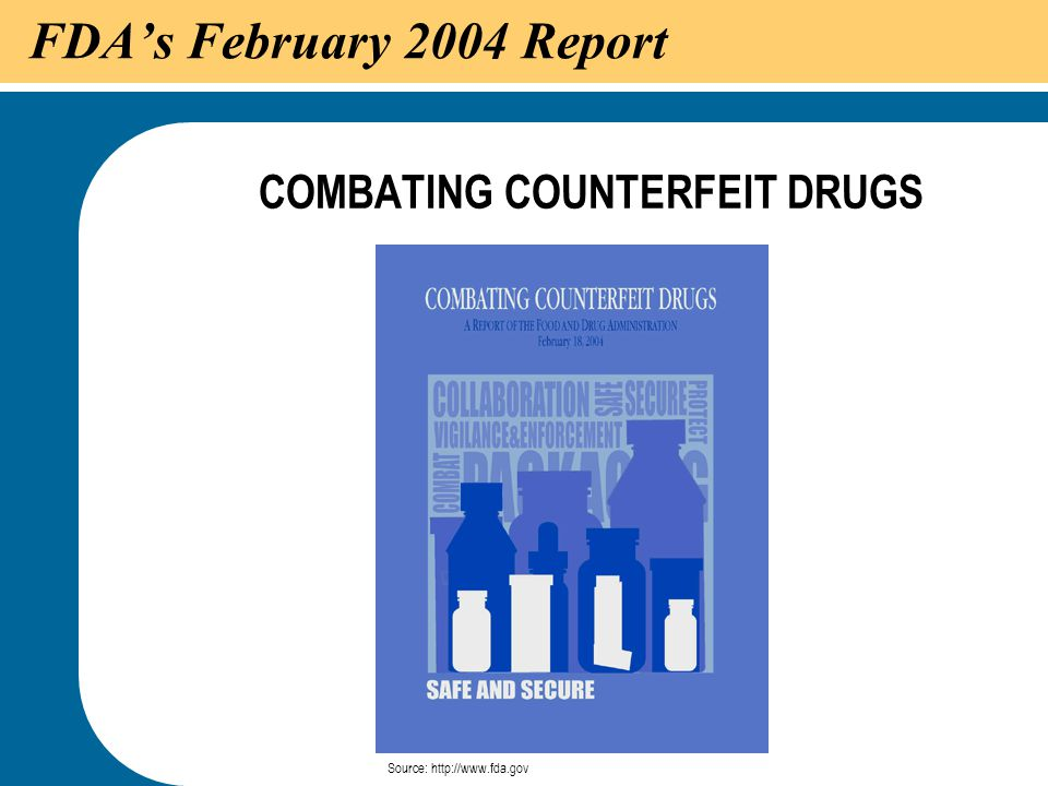 COMBATING COUNTERFEIT DRUGS