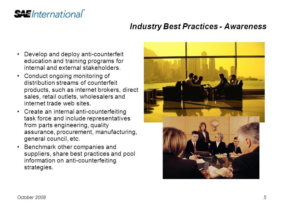 Industry Best Practices - Awareness