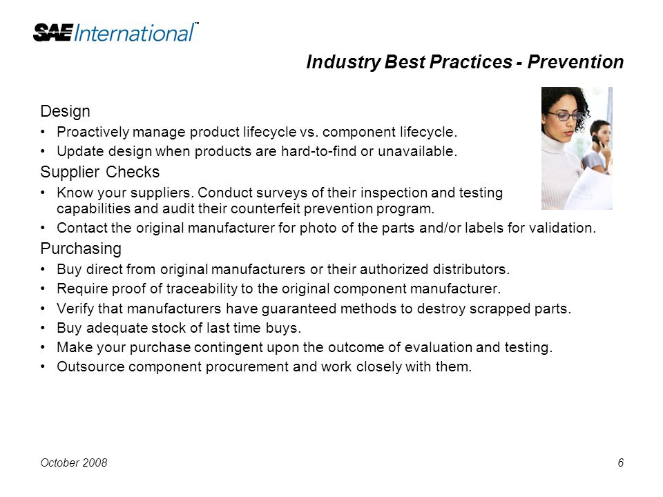Industry Best Practices - Prevention