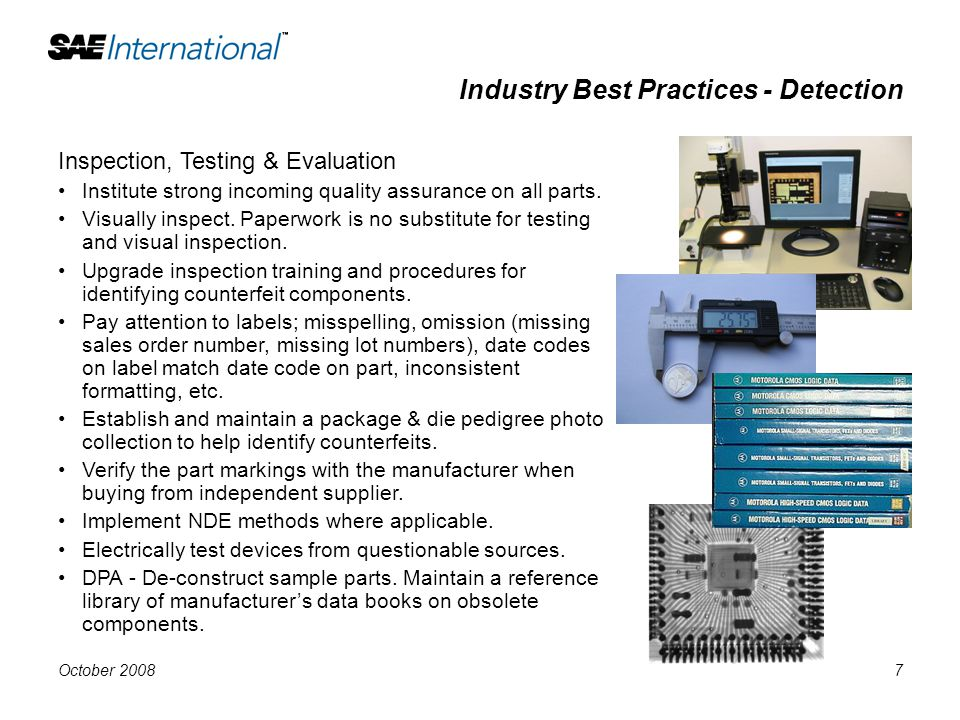 Industry Best Practices - Detection