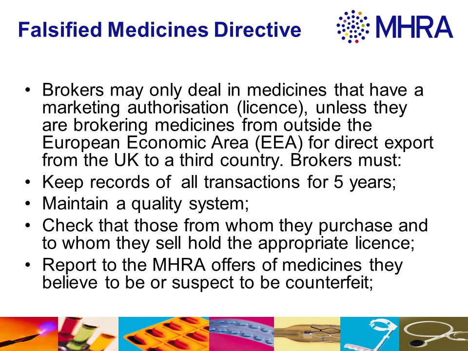 Falsified Medicines Directive
