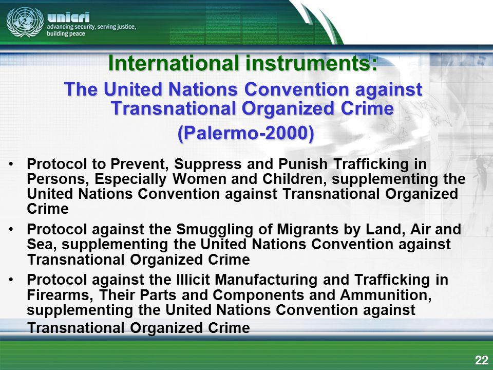 International instruments: