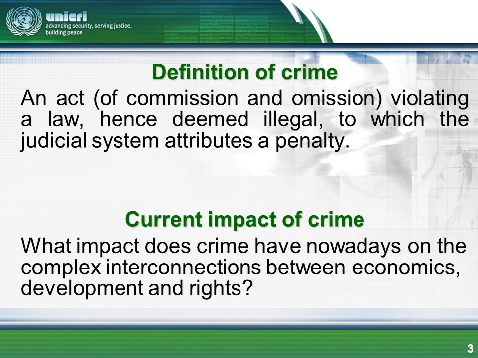 Current impact of crime