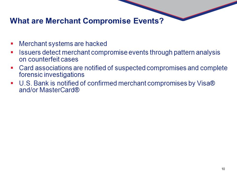 What are Merchant Compromise Events