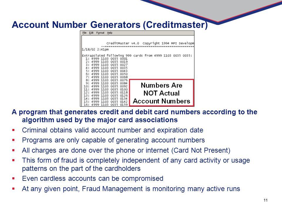 Account Number Generators (Creditmaster)