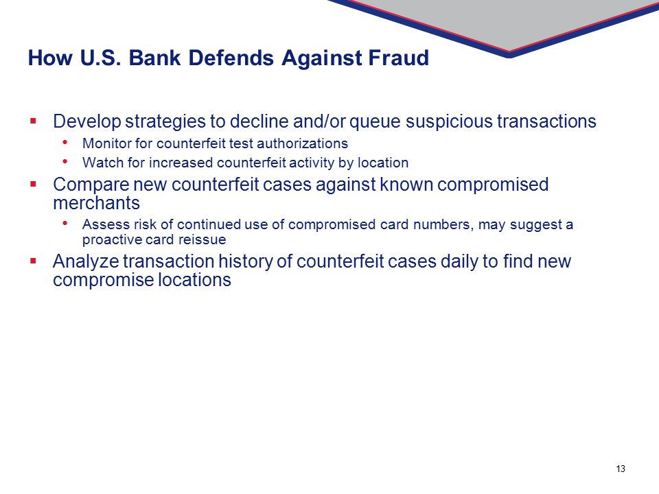 How U.S. Bank Defends Against Fraud