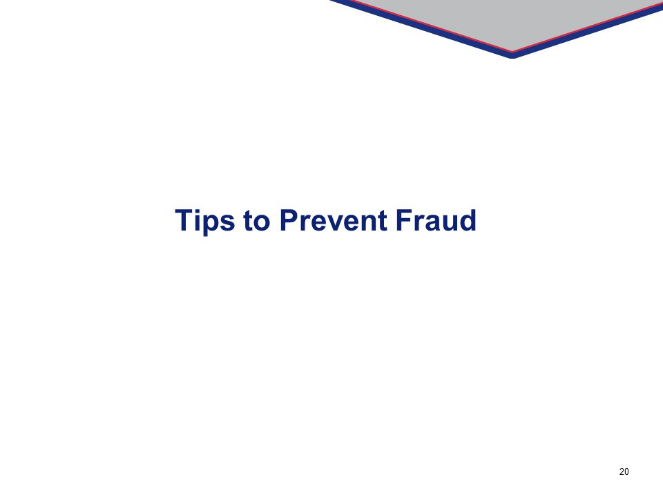 Tips to Prevent Fraud
