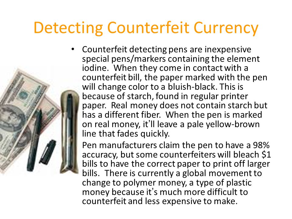 Detecting Counterfeit Currency