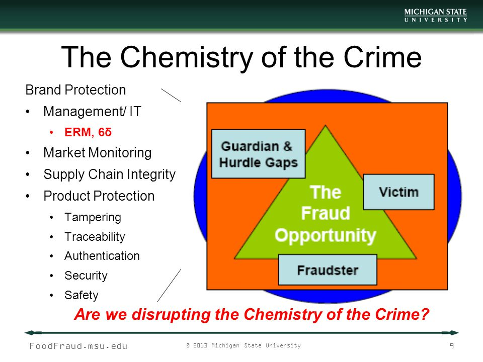 The Chemistry of the Crime